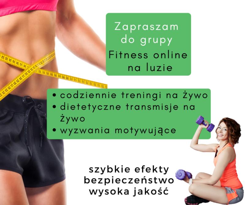 "Dołącz do mojej grupy na Facebook ""Fitness online na luzie Magdalena Cieślak"""